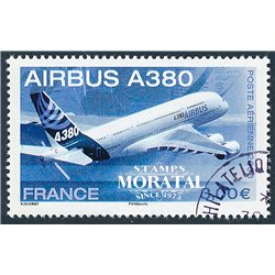 2006 France  Sc# C68  (o) Used, Nice. Airbus A380 (Scott)