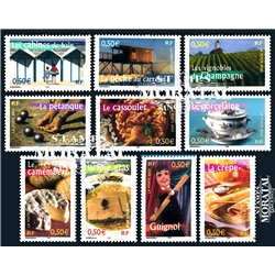 2003 France  Sc# 2946a/2946j  0. Life in the French Regions I (Scott)