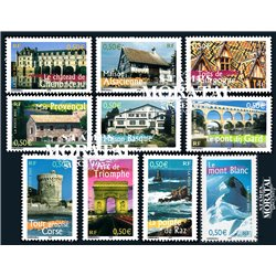 2003 France  Sc# 2978a/2978j  0. France to live No 2 (Scott)  Tourism