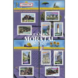 2004 France  Sc# 3047a/3047j  0. Normandy, Castle of Chambord, Gorges of the Tarn, Cap Ferret Lighthouse (Scott)