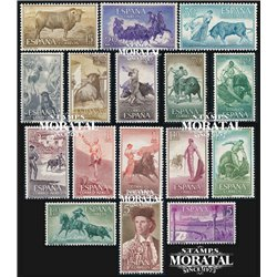 1960 Espagne 943/954, A-278/281  Taureaux Taureaux **MNH TTB Très Beau  (Yvert&Tellier)