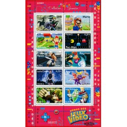 2005 France  Sc# 3155  ** MNH Very Nice. Video game. Link, Pac-Man, Prince of Persia, Mario (Scott)