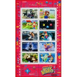 2005 France  Sc# 3155  ** MNH Very Nice. Video game. Link, Pac-Man, Prince of Persia, Mario (Scott)