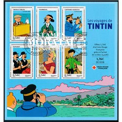 2007 France  Sc# 3334a  (o) Used, Nice. The Voyages of Tintín (Scott)