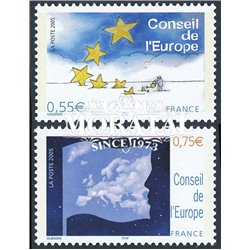 2005 France  Sc# 1O61/62  ** MNH Very Nice. Council of Europe. Sower of Hope, Map of Europe (Scott)