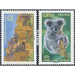 2007 France  Sc# 2O59/60  ** MNH Very Nice. UNESCO (Scott)