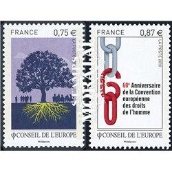2010 France  Sc# 1O67/68  ** MNH Very Nice. Council of Europe (Scott)