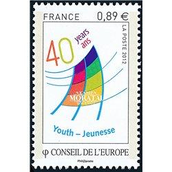 2012 France  Sc# 1O70  ** MNH Very Nice. Council of Europe (Scott)