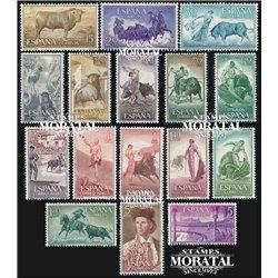 1960 Espagne 943/954, A-278/281  Taureaux Taureaux *MH TB Beau  (Yvert&Tellier)