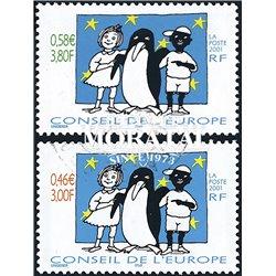 2001 France  Sc# 1O57/58  0. Council of Europe (Scott)