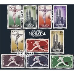 1960 Espagne 965/970, A-282/285  C.A.F. Organismes **MNH TTB Très Beau  (Yvert&Tellier)