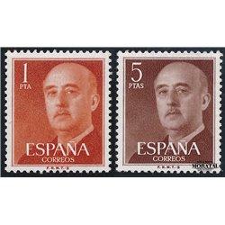 1960 Spanien 1050b/1053c  General Franco-B Serie Gene ** Perfekter Zustand  (Michel)