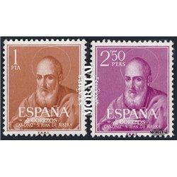 1960 Espagne 973/974  Ribera  *MH TB Beau  (Yvert&Tellier)