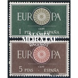 1960 Spanien 1189/1190  Europa Europa * Falz Guter Zustand  (Michel)