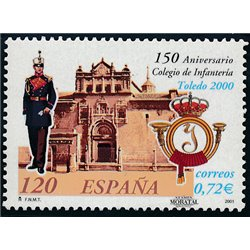 2001 Espagne 3345 Infanterie de Tolède College  **MNH TTB Très Beau  (Yvert&Tellier)