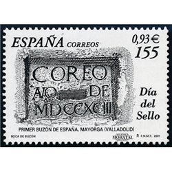 2001 Spanien 3613 Tag der Briefmarke  ** Perfekter Zustand  (Michel)
