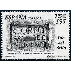 2001 Espagne 3347 Journée du timbre  **MNH TTB Très Beau  (Yvert&Tellier)