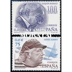 2001 Spanien 3616/3617  Beliebten Figuren  ** Perfekter Zustand  (Michel)