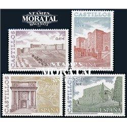 2001 Espagne 3352/3355  Châteaux  **MNH TTB Très Beau  (Yvert&Tellier)