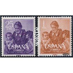 1960 Espagne 977/978  Vicente Paul Religieux **MNH TTB Très Beau  (Yvert&Tellier)