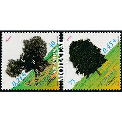 2001 Spanien 3637/3638  Bäume  ** Perfekter Zustand  (Michel)
