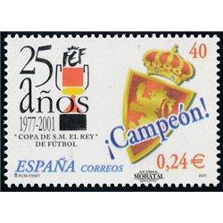 2001 Spanien 3641 25 Aniv.Copa des Königs  ** Perfekter Zustand  (Michel)