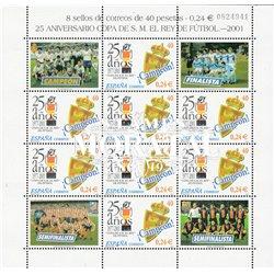 2001 Spanien 3641 Zd-Bogen MP 25 Aniv.Copa des Königs  ** Perfekter Zustand  (Michel)