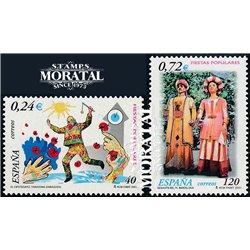 2001 Espagne 3376/3377  Fêtes populaires  **MNH TTB Très Beau  (Yvert&Tellier)