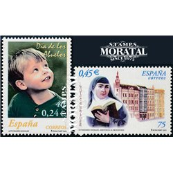 2001 Espagne 3381/3382  Activités sociales  **MNH TTB Très Beau  (Yvert&Tellier)
