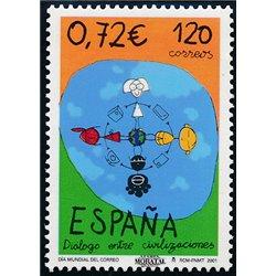 2001 Spanien 3654 Welttag der Post  ** Perfekter Zustand  (Michel)
