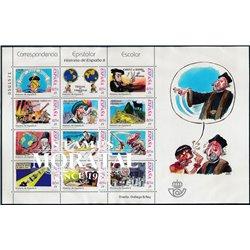 2001 Espagne 3386A/3386M  Feuille Correspondance épistolaire de MP (IV)  **MNH TTB Très Beau  (Yvert&Tellier)