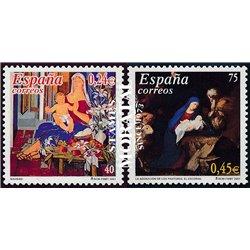 2001 Spanien 3669/3670  Weihnachten (gemeinsame Deutschland)  ** Perfekter Zustand  (Michel)