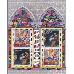 2001 Spain  Sc 3124a Sheet Christmas (Joint Germany) Christmas **MNH Very Nice, Mint Hever Hinged?  (Scott)