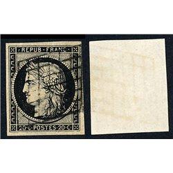 1849 France  Sc# 3  0. Type Ceres 20 c. (Scott)