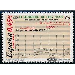 2001 Spanien  Mi 3673 Manuel de Falla Musik ** Perfekter Zustand, Postfrisch   (Michel)