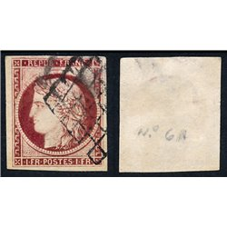 1849 France  Sc# 8  0. Type Ceres 1 Fr. (Scott)