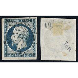 1852 France  Sc# 11  0. Louis Napoleon  (Scott)