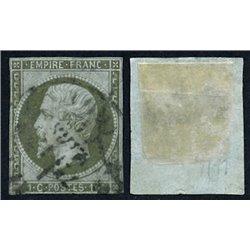 1860 France  Sc# 12  0. Emperor Napoleon III 1c. (Scott)
