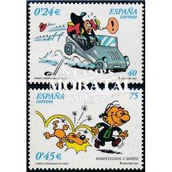 2001 Spain  Sc 3126/3127 Comics VII Comics **MNH Very Nice, Mint Hever Hinged?  (Scott)