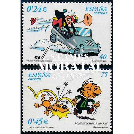 2001 Espagne 3394/3395  Comics VII Comics **MNH TTB Très Beau  (Yvert&Tellier)