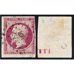 1859 France Sc 20 Emperor Napoleon III 80c.  (o) Used, Nice  (Scott)