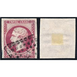 1859 France  Sc# 20  (o) Used, Nice. Emperor Napoleon III 80c. (Scott)