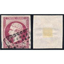 1859 Francia Yv 17B Napoleon III 80c. (I)  (o) Usado, Buen Estado  (Yvert&Tellier)