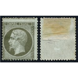 1862 Francia Yv 19 Napoleon III  *MH Buen Estado, Nuevo con Charnela  (Yvert&Tellier)