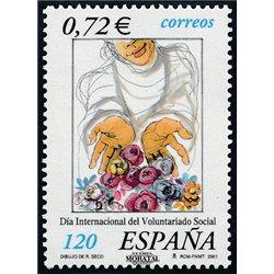 2001 Spain  Sc 3129 Social volunteer work Charity **MNH Very Nice, Mint Hever Hinged?  (Scott)