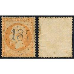 1862 Francia Yv 23 Napoleon III  (o) Usado, Buen Estado  (Yvert&Tellier)