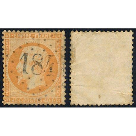 1862 France  Sc# 27  0. Napoleon III (Scott)