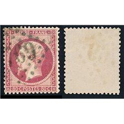 1862 Francia Yv 24 Napoleon III  (o) Usado, Buen Estado  (Yvert&Tellier)