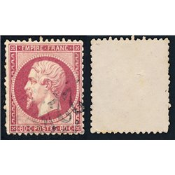 1862 France  Sc# 28  (o) Used, Nice. Napoleon III (Scott)