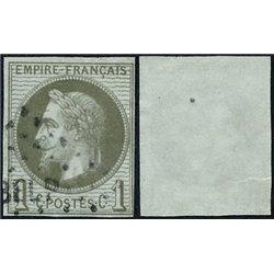1863 Colonias Francesas Yv 7 Napoleon III Laureado 1c.  (o) Usado, Buen Estado  (Yvert&Tellier)